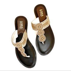 White Mia Heritage Borneo Beaded Sandals